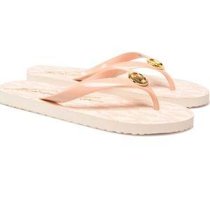 Brand New Michael Kors Pink Flip Flops
